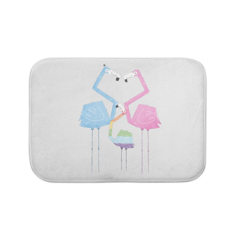 A Fabulous Family of Flamingos (Gay Pride) Home Bath Mat by boney's Artist Shop