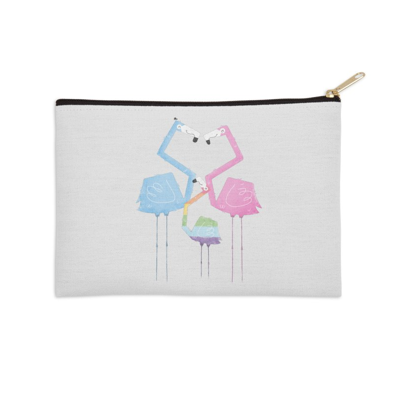A Fabulous Family of Flamingos (Gay Pride) Accessories Zip Pouch by boney's Artist Shop