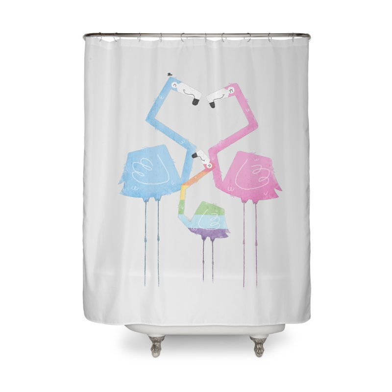 A Fabulous Family of Flamingos (Gay Pride) Home Shower Curtain by boney's Artist Shop