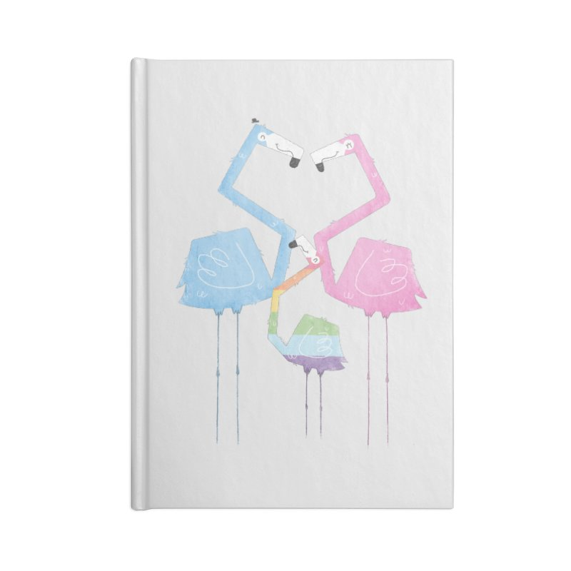 A Fabulous Family of Flamingos (Gay Pride) Accessories Notebook by boney's Artist Shop