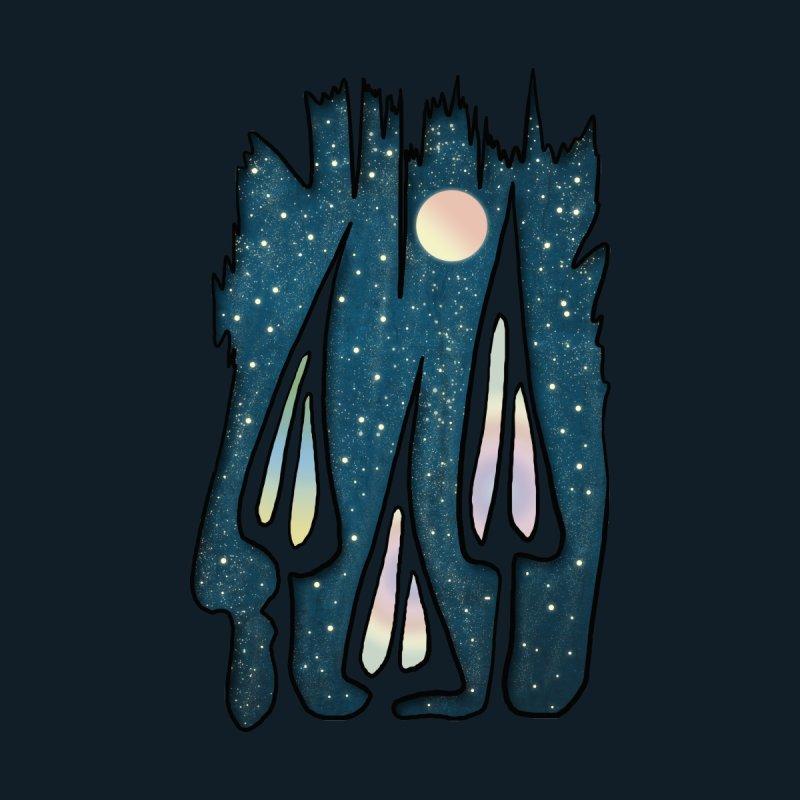 Mushrooms Night Men's T-Shirt by bongonation's Artist Shop