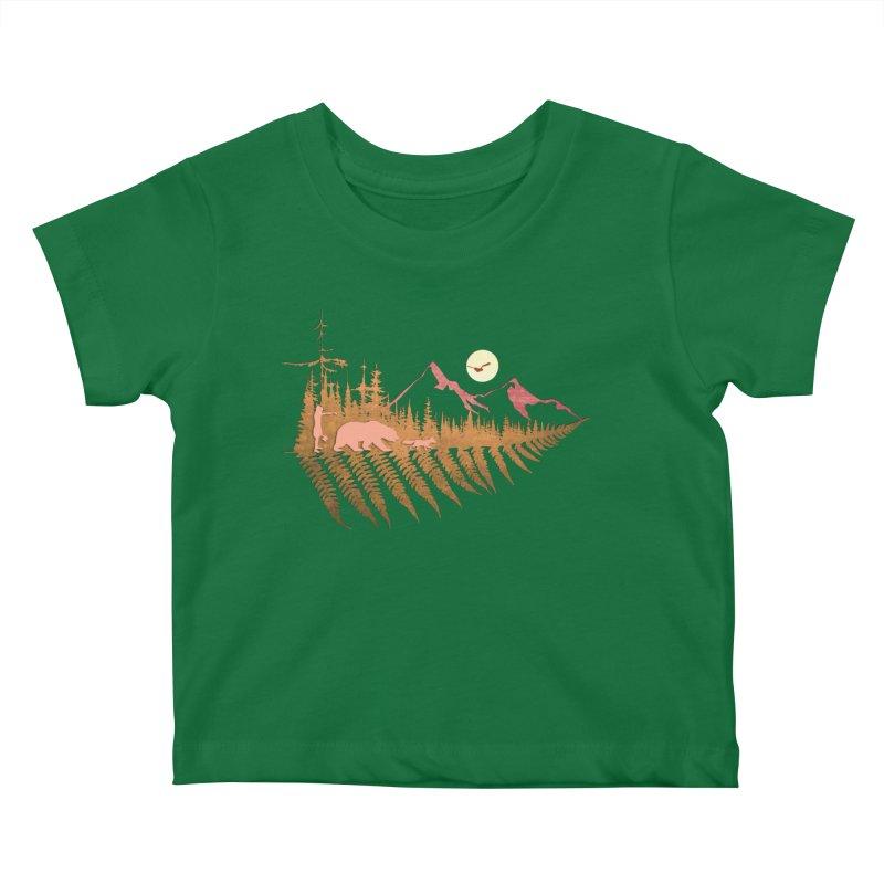 Forest Fern Kids Baby T-Shirt by bongonation's Artist Shop