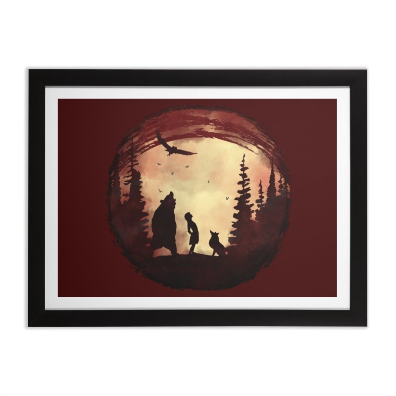 Red Night Home Framed Fine Art Print by bongonation's Artist Shop