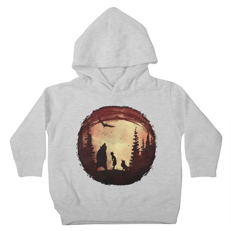 Red Night Kids Toddler Pullover Hoody by bongonation's Artist Shop
