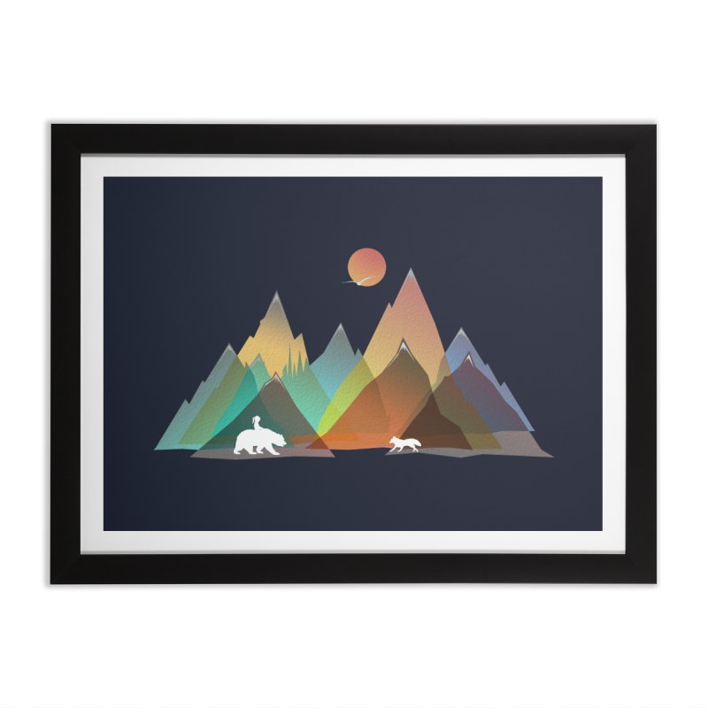 Mountains Colors Home Framed Fine Art Print by bongonation's Artist Shop