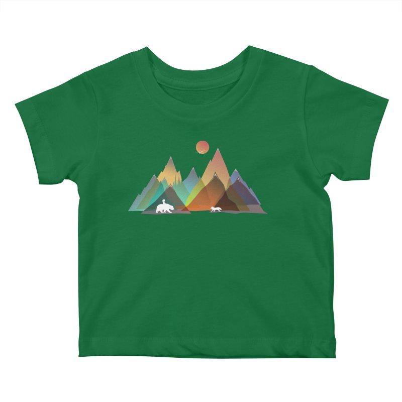 Mountains Colors Kids Baby T-Shirt by bongonation's Artist Shop
