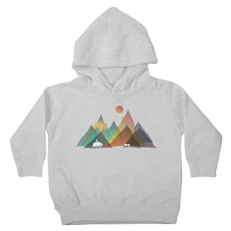 Mountains Colors Kids Toddler Pullover Hoody by bongonation's Artist Shop