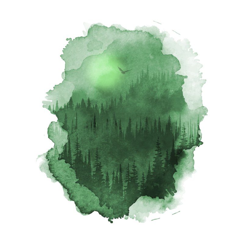 Mist Forest Men's V-Neck by bongonation's Artist Shop