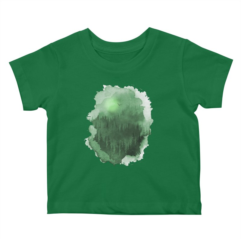 Mist Forest Kids Baby T-Shirt by bongonation's Artist Shop
