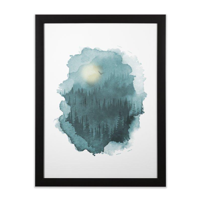 Mist Forest Home Framed Fine Art Print by bongonation's Artist Shop