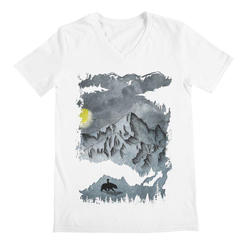 Moon Hike Men's V-Neck by bongonation's Artist Shop