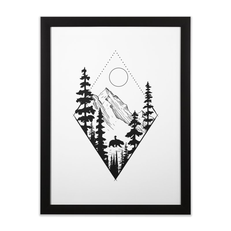 Wild Friends Home Framed Fine Art Print by bongonation's Artist Shop