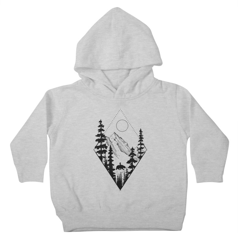 Wild Friends Kids Toddler Pullover Hoody by bongonation's Artist Shop