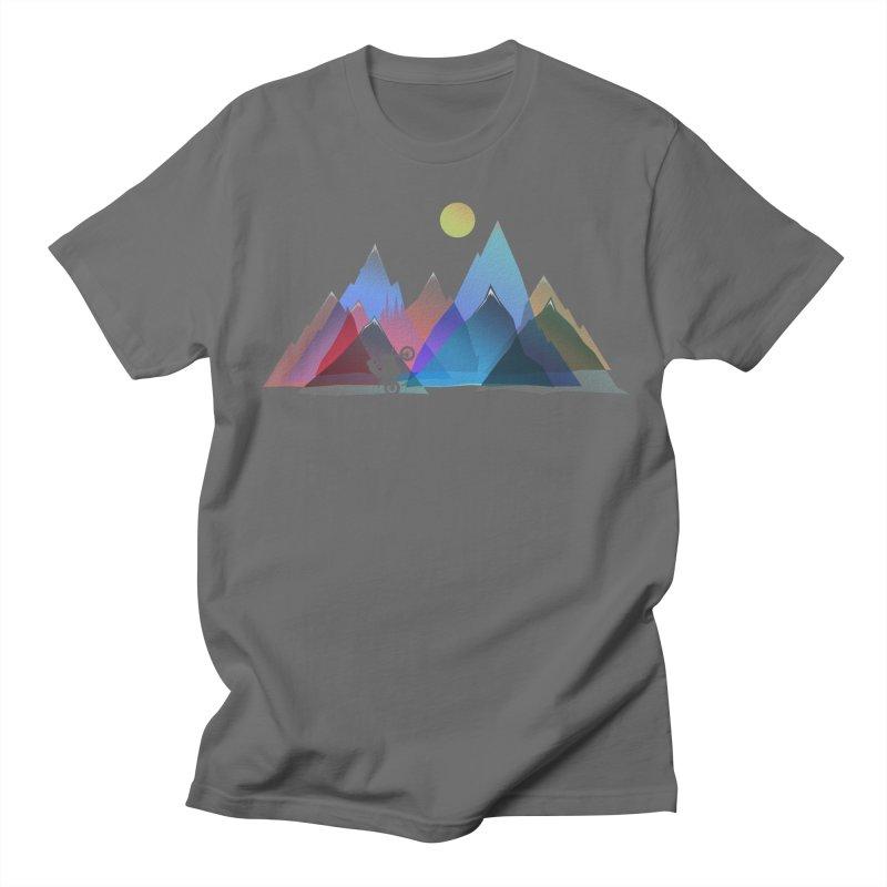 Mountains Motocross Men's T-Shirt by bongonation's Artist Shop