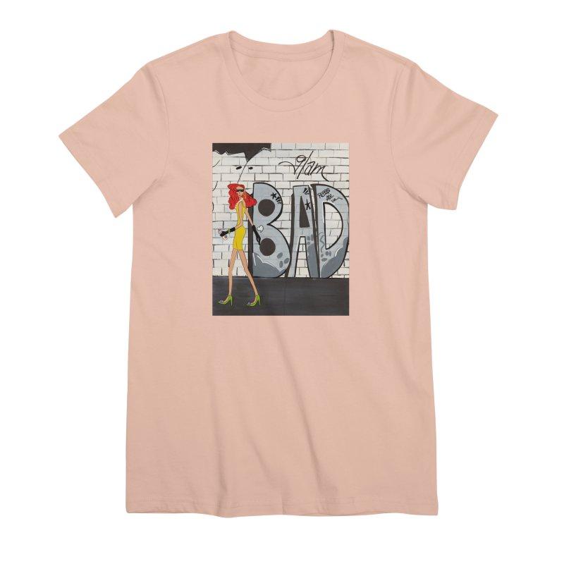 Glam BAD Women's Premium T-Shirt by Bonnie Donaghy Art