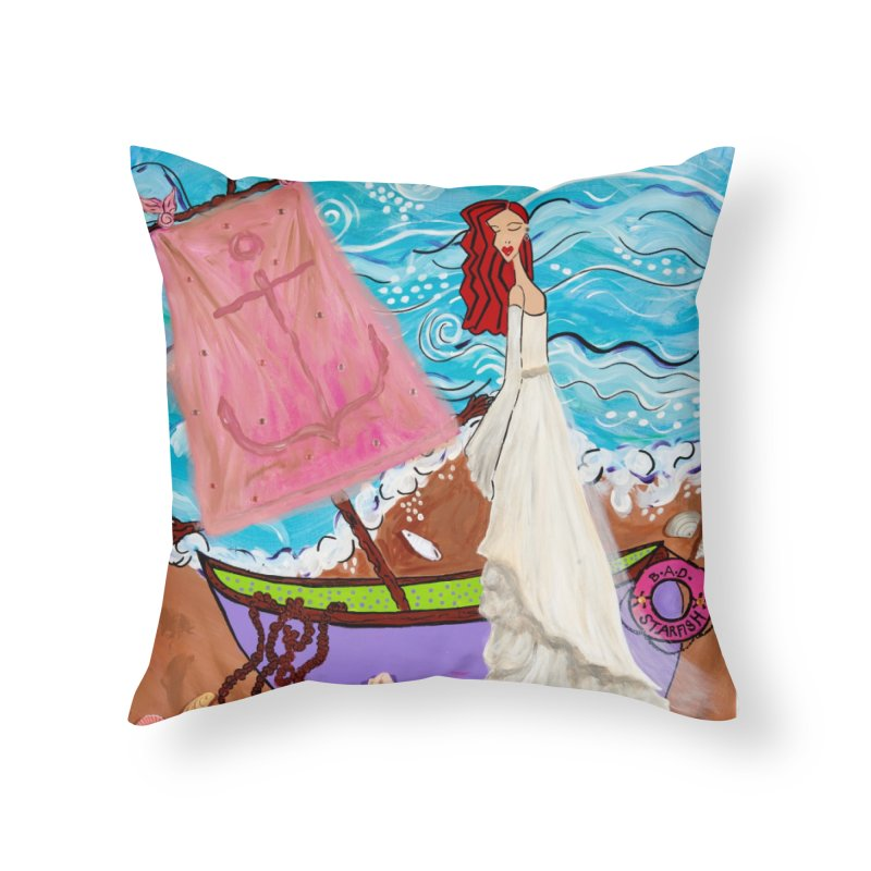 Natalia Home Throw Pillow by Bonnie Donaghy Art