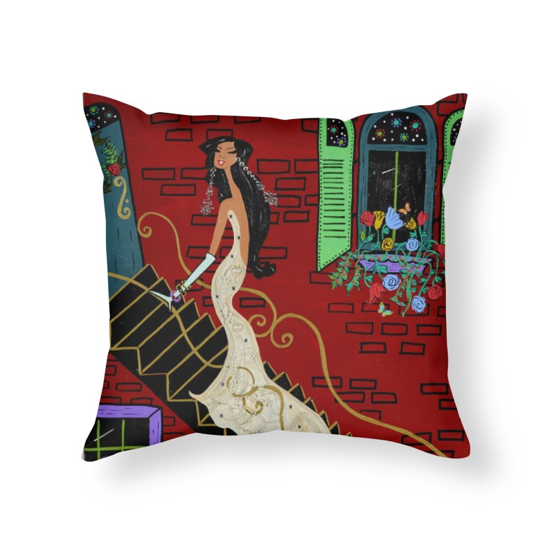 Evening in Paris Home Throw Pillow by Bonnie Donaghy Art