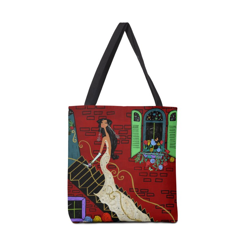 Evening in Paris Accessories Tote Bag Bag by Bonnie Donaghy Art