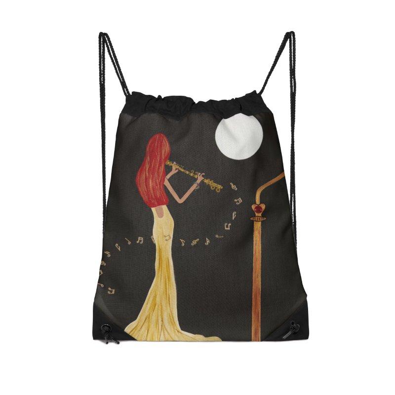 Soloist 2 Accessories Drawstring Bag Bag by Bonnie Donaghy Art