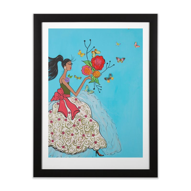 Mariposas Home Framed Fine Art Print by Bonnie Donaghy Art