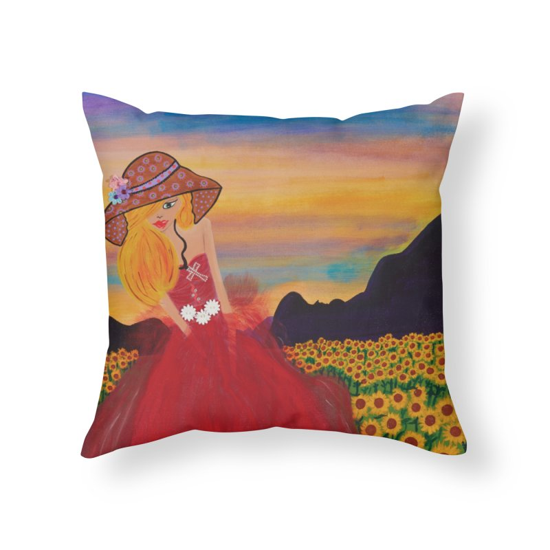 Gypsy Soul Home Throw Pillow by Bonnie Donaghy Art