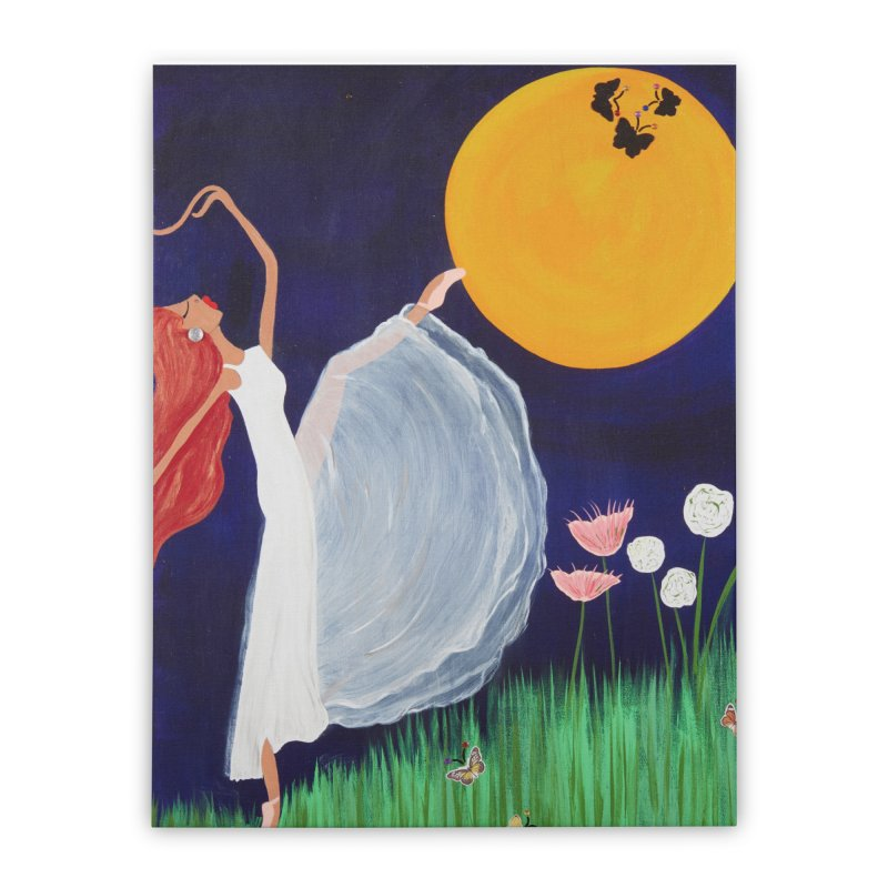 Butterfly Moon Home Stretched Canvas by Bonnie Donaghy Art