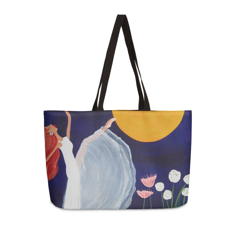 Butterfly Moon Accessories Weekender Bag Bag by Bonnie Donaghy Art