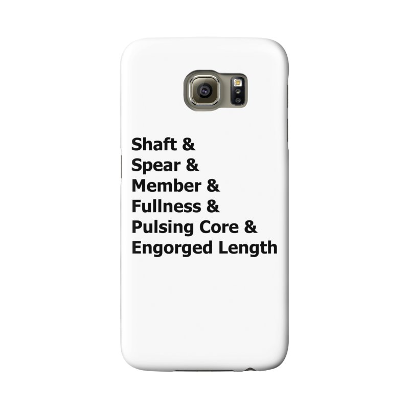 "Romance Novel ""Penis"" Words Accessories Phone Case by Boobies & Noobies"