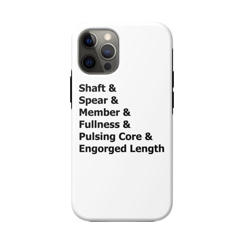 "Romance Novel ""Penis"" Words Accessories Phone Case by Boobies & Noobies"