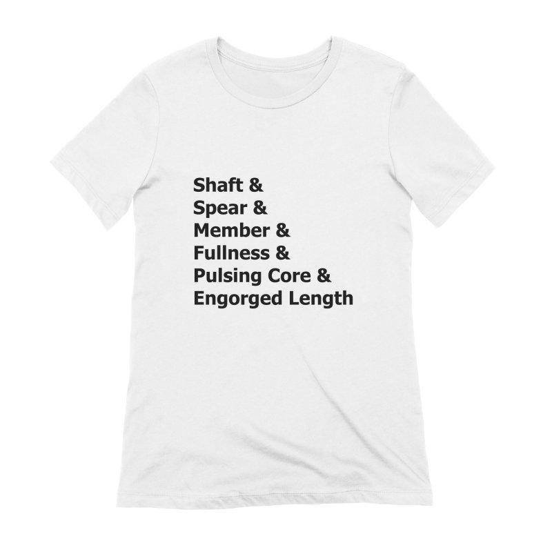 "Romance Novel ""Penis"" Words Women's T-Shirt by Boobies & Noobies"