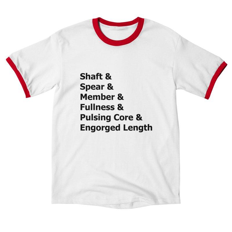 "Romance Novel ""Penis"" Words Men's T-Shirt by Boobies & Noobies"