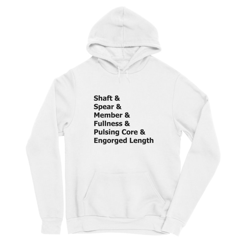 "Romance Novel ""Penis"" Words Men's Pullover Hoody by Boobies & Noobies"