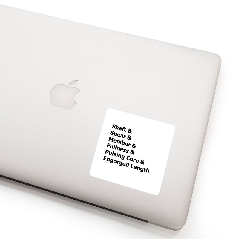 "Romance Novel ""Penis"" Words Accessories Sticker by Boobies & Noobies"