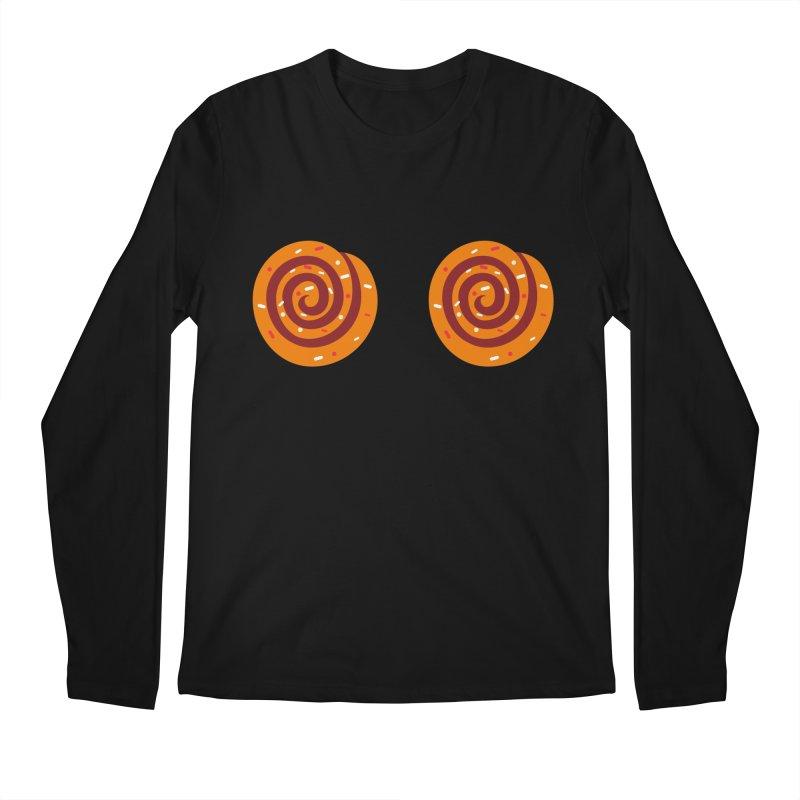 Cinnamon Roll Boobies Men's Longsleeve T-Shirt by Boobies & Noobies