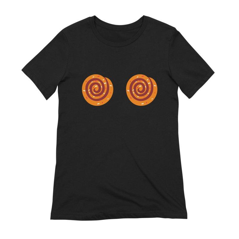 Cinnamon Roll Boobies Women's T-Shirt by Boobies & Noobies
