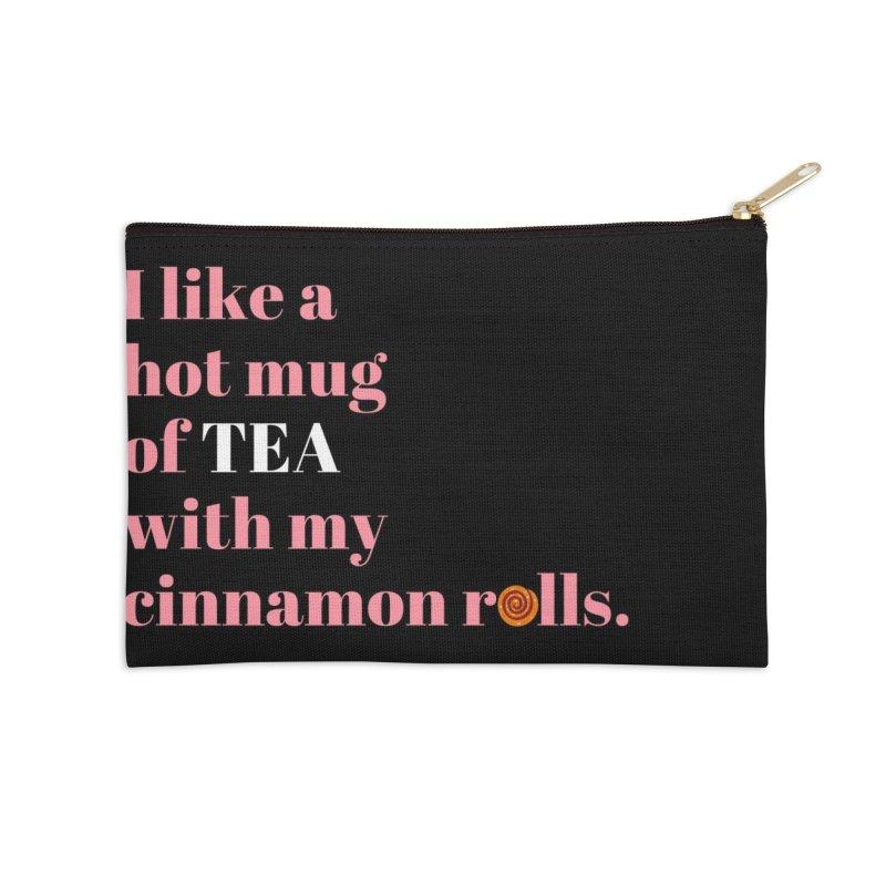 Cinnamon Rolls & Tea Accessories Zip Pouch by Boobies & Noobies