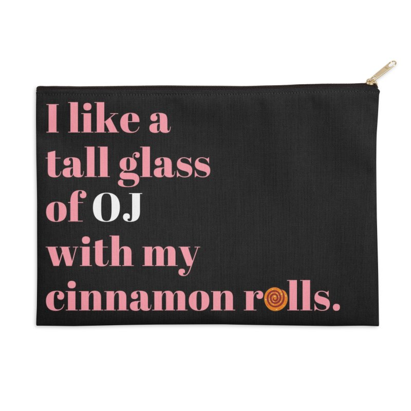 Cinnamon Rolls & OJ Accessories Zip Pouch by Boobies & Noobies