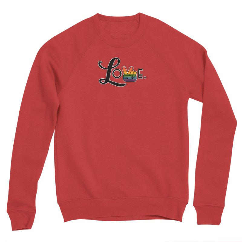 Love is Pride Men's Sweatshirt by boogleloo's Shop