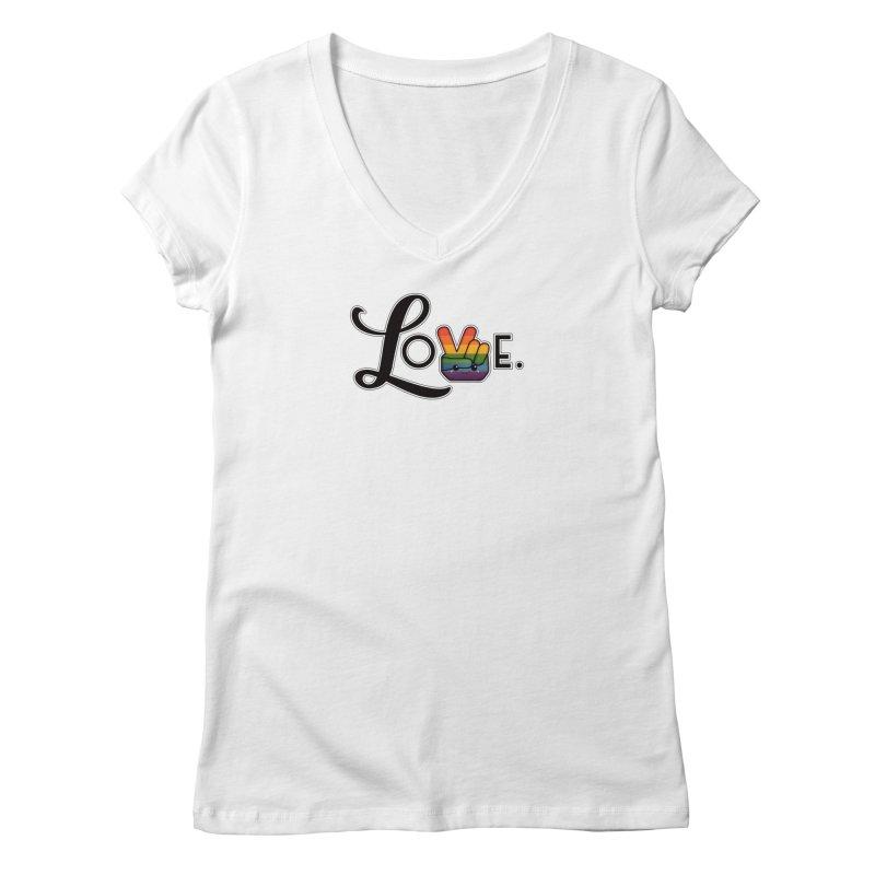 Love is Pride Women's V-Neck by boogleloo's Shop