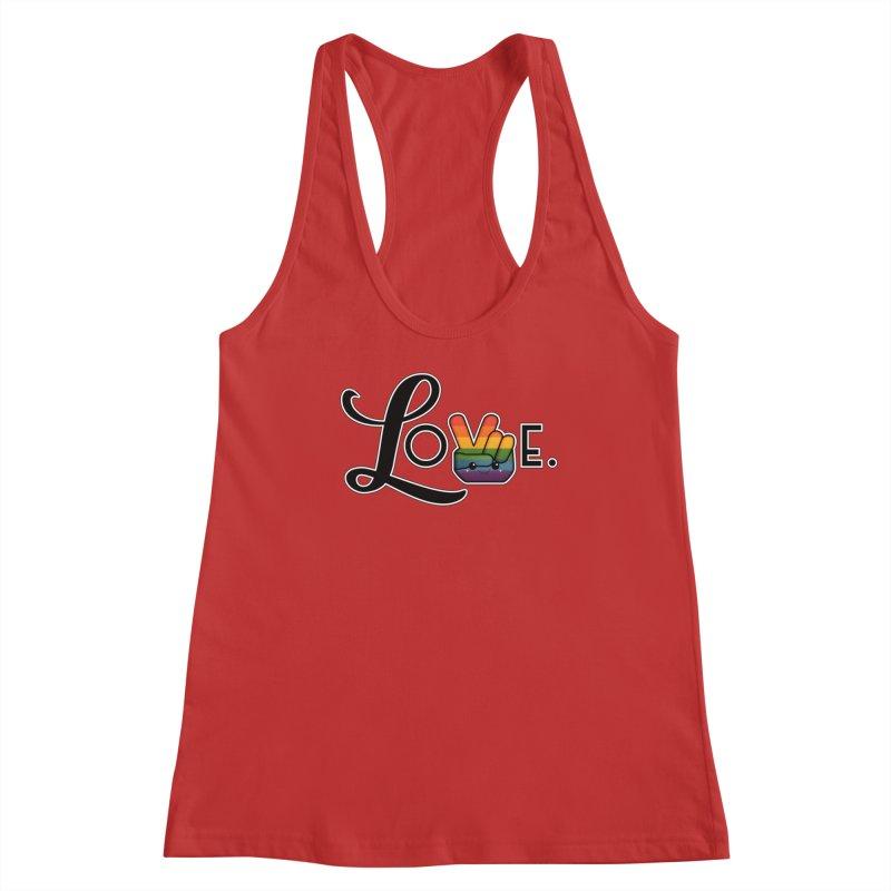 Love is Pride Women's Racerback Tank by boogleloo's Shop