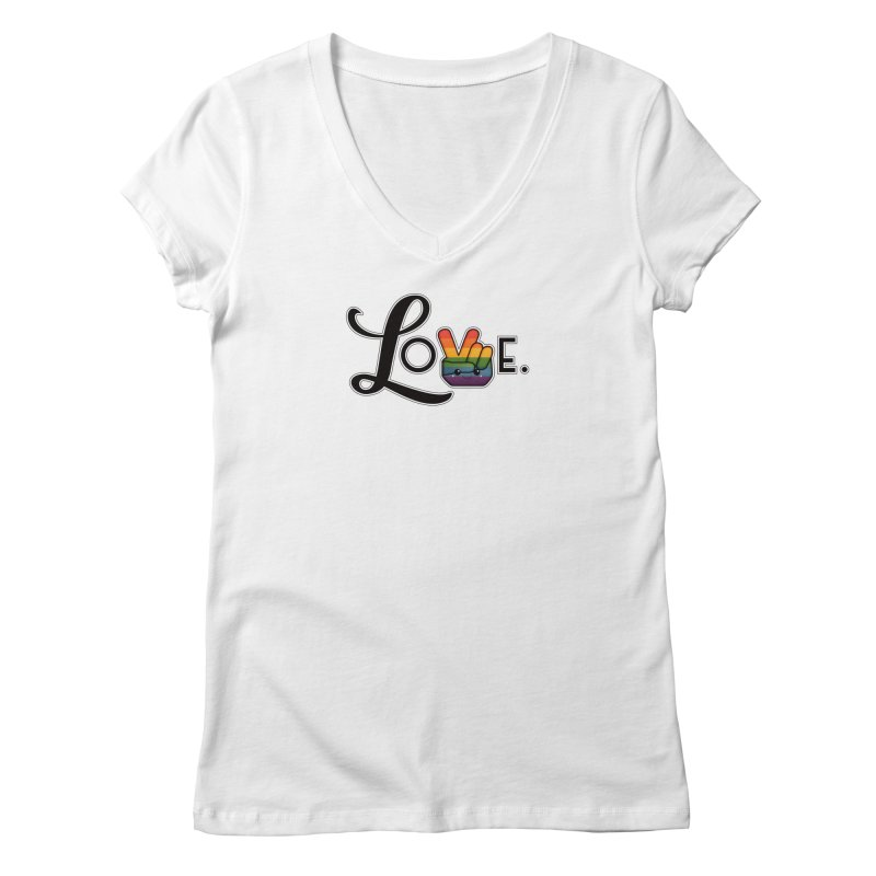Love is Pride Women's Regular V-Neck by boogleloo's Shop