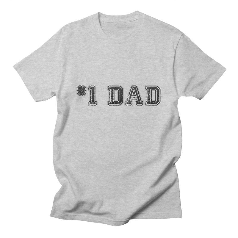 #1 DAD Men's T-Shirt by boogleloo's Shop