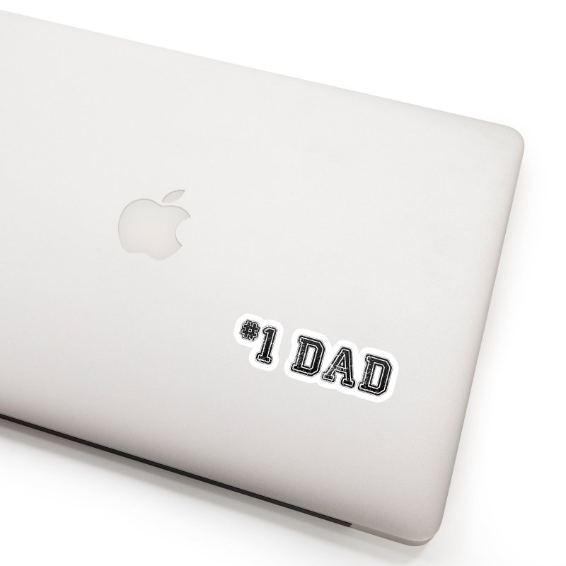 #1 DAD Accessories Sticker by boogleloo's Shop