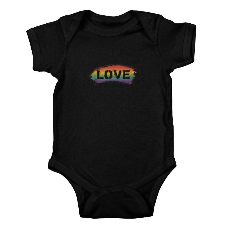 Colors of Love - Black Kids Baby Bodysuit by boogleloo's Shop