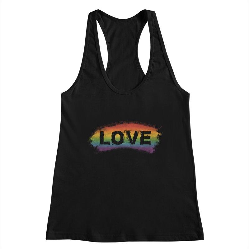 Colors of Love - Black Women's Tank by boogleloo's Shop