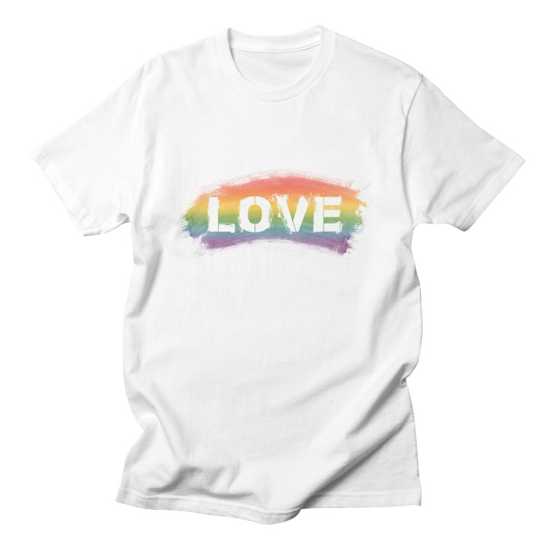 Colors of Love - White Men's T-Shirt by boogleloo's Shop