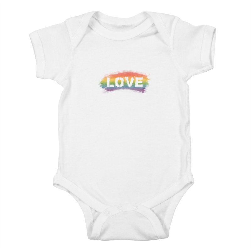 Colors of Love - White Kids Baby Bodysuit by boogleloo's Shop