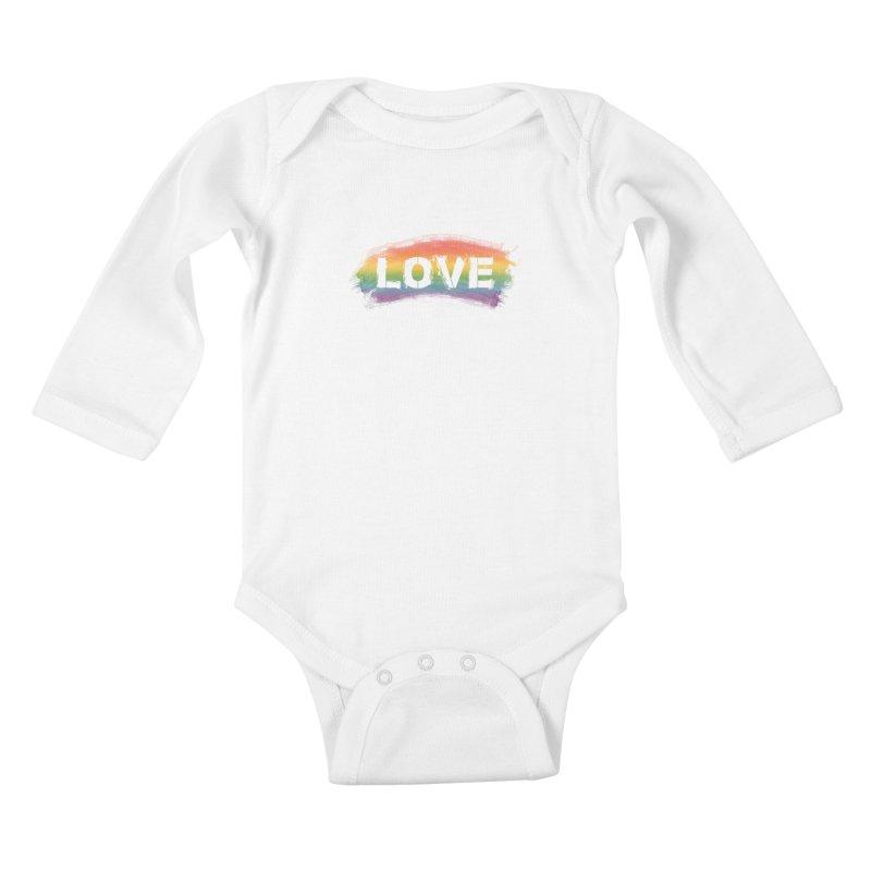 Colors of Love - White Kids Baby Longsleeve Bodysuit by boogleloo's Shop