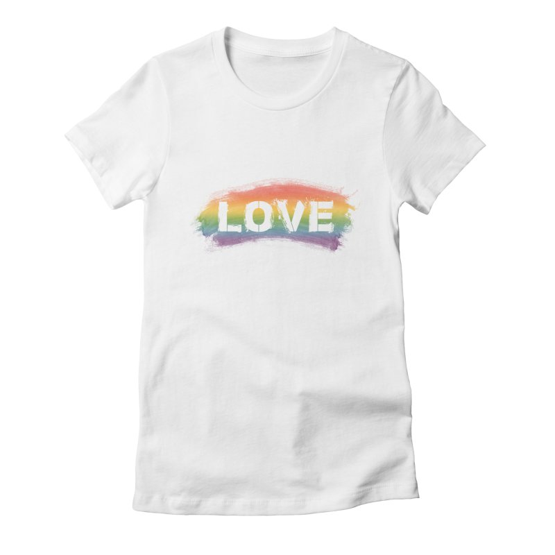 Colors of Love - White Women's T-Shirt by boogleloo's Shop