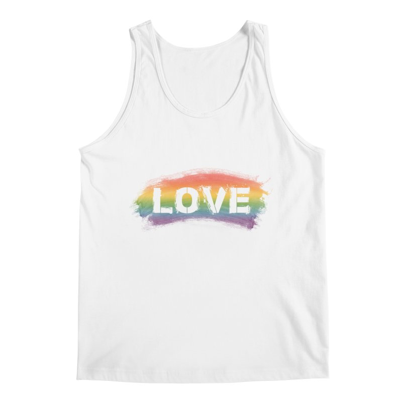 Colors of Love - White Men's Tank by boogleloo's Shop